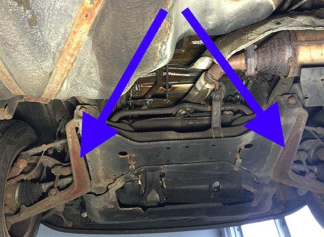 VW Bus T4 untere Querlenker Vorderachse sind immer verrostet