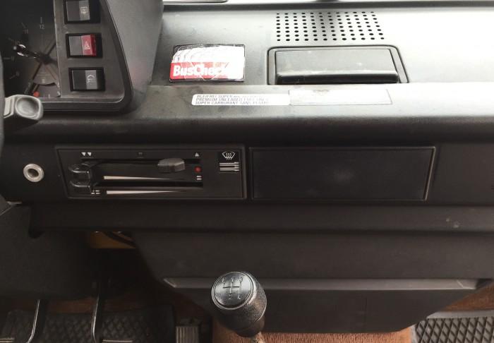 weniger ist mehr FAN360 VW Bus T3 ohne Schalter für Innenraumluefter
