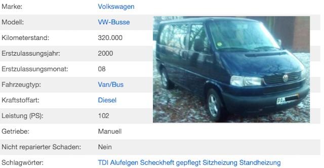 VW Bus T4 Multivan Kaufberatung Vorsicht Hundehuette