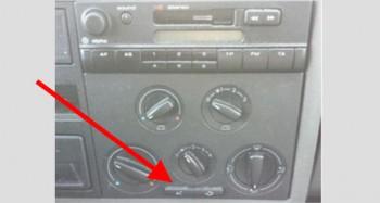 VW Bus T4 manuelle Klima Betaetigung