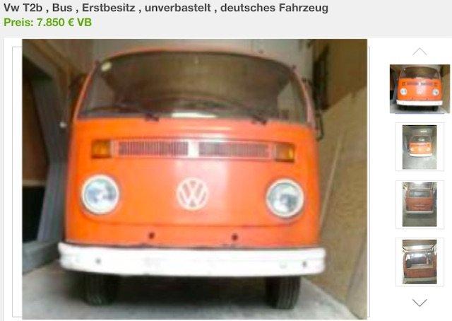 VW Bus T2 kaufen erste Hand wenig Km