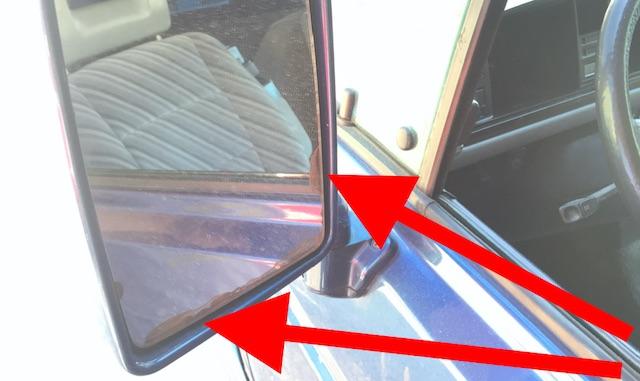 VW Bus T3 Komfort Spiegel Beschichtung loest sich ab