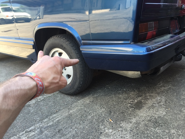 VW Bus T3 lackierte Planken matt scharzer Streifen mittig fehlt