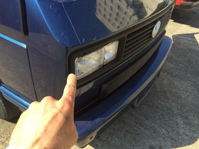 VW Bus T3 last Limited Doppelscheinwerfergrill selbst lackiert