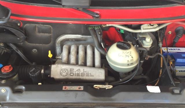 VW Bus T4 2.4 Dieselmotor mit Dampfmaschinencharakter