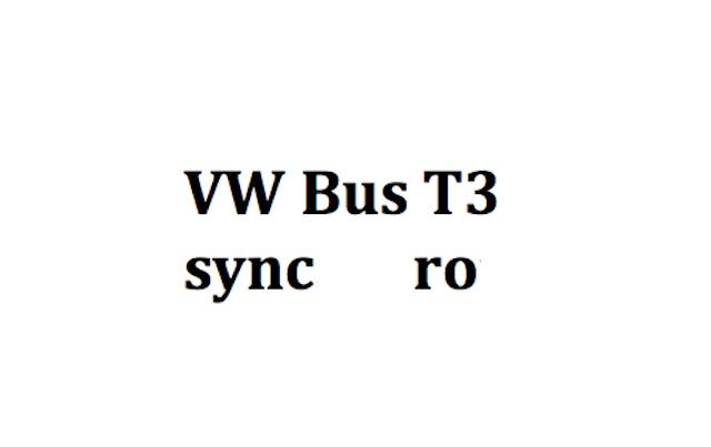 VW Bus T3 Syncro Kaufberatung mit dem BusChecker