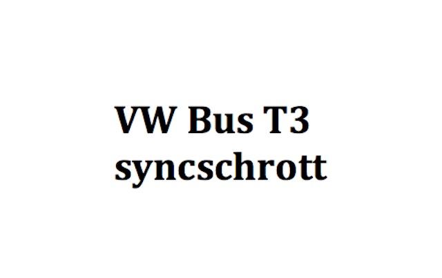 VW Bus T3 Syncro Schwachstellen