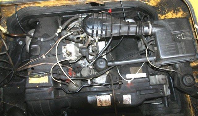 Lufti Boxer VW Bus T3 CT Motor Ansicht von oben