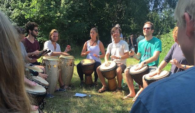 Trommelworkshop auf dem Pangea 2016