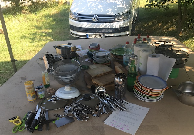 workshop kochen am VW Bus start klar pangea 2016