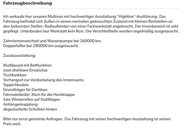 VW Bus T4 Kaufberatung Bus Checker prueft Inserate