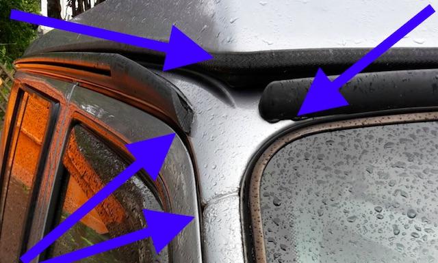 T4 KlappDach aus der Naehe betrachtet mit dem Bus Checker