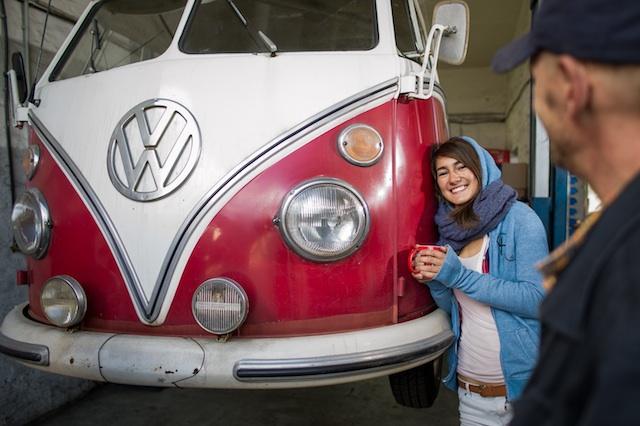 VW Bus T2 Scheunenfund Probefahren mit dem Bus Checker