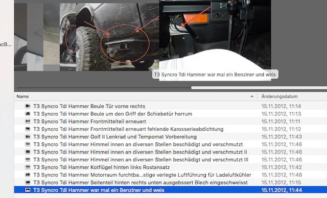 VW Bus T3 Syncro TDI nach der Besichtung Auswertung