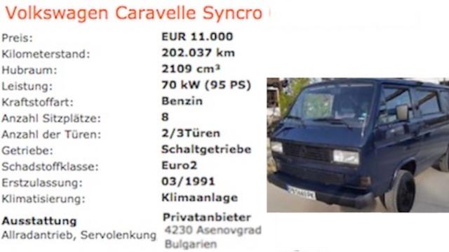 T3 Syncro kaufen Bus Checker weltweit