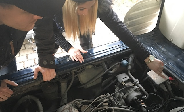 VW Bus T3 GPS Ortung getarnt als Marderschreck