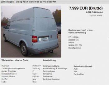 VW Bus T5 5 Zylinder TDI Kaufberatung