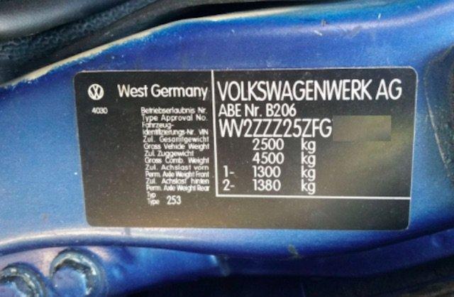 Achtung gefälschte Typschilder VW Bus T3