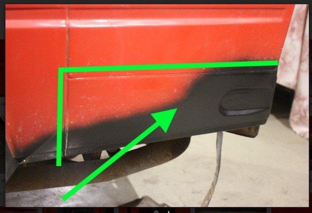 T3 Radlaufanschluß hinten Reparaturblech Karosse unterhalb