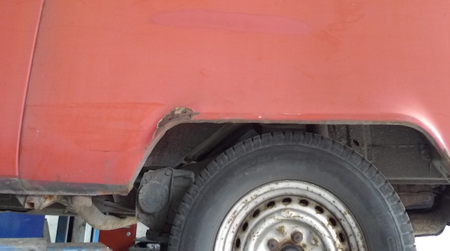 VW Bus T2 Rost Beseitigung