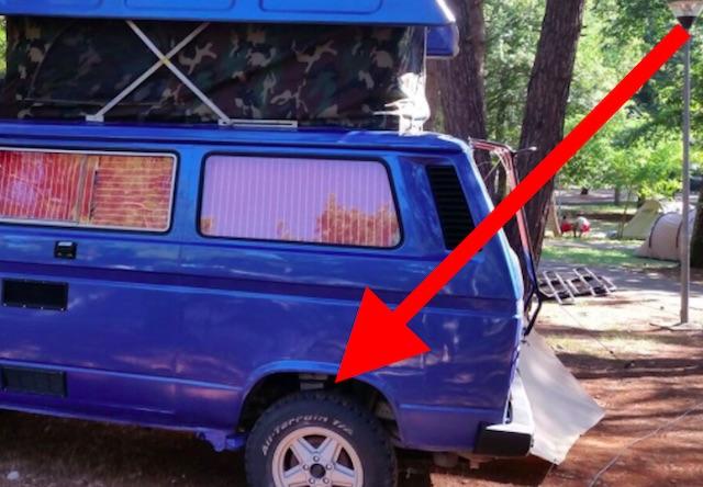 VW Bus T3 Syncro Karosse zurechtgeschustert