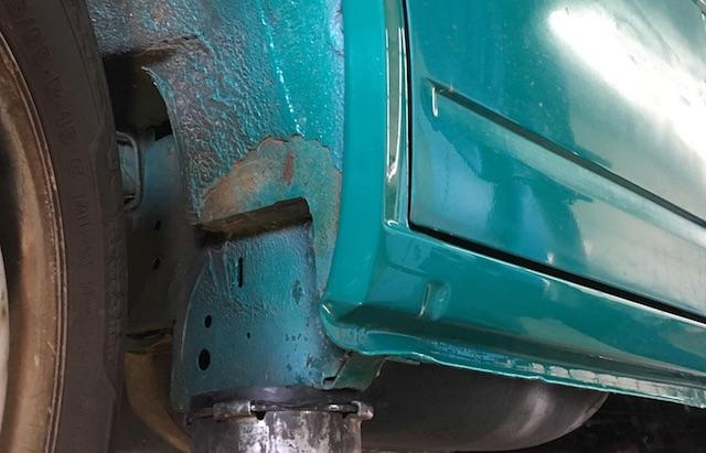 VW Bus T4 Radlauf Rostvorsorge