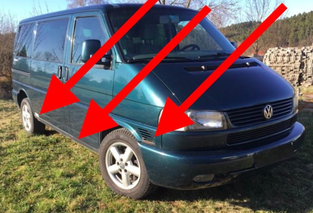 VW Bus T4 Rost beseitigen Lackierer guenstig