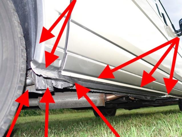 VW Bus T4 Rostproblem Radlauf hinten