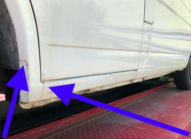 Radlaeufe VW Bus spachteln