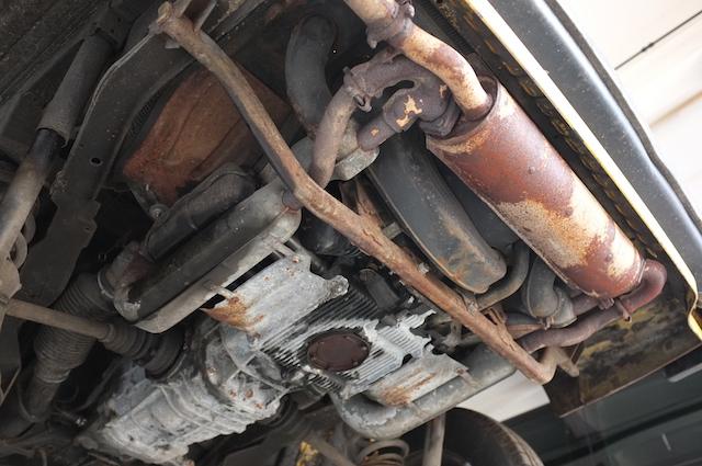 T3 Boxer Benziner per Luft gekuehlt Motor von unten