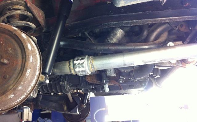 T3 Diesel Auspuff Flexrohr einbaun