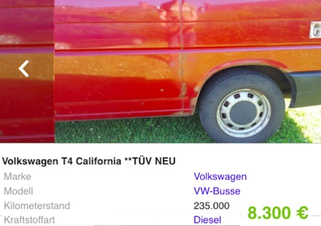 T4 FaltDachCamper Eigenbau kein California