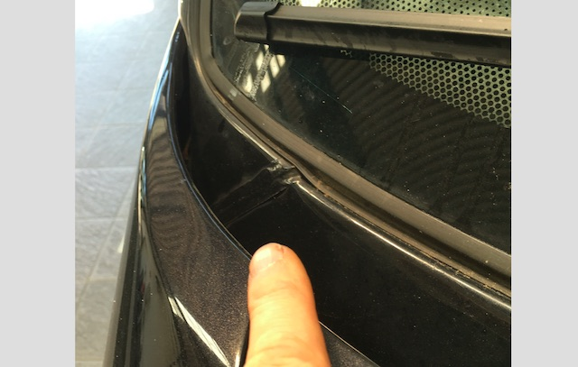 T4 Karosserienaht Spritzblech unter Frontscheibe rechts manipuliert