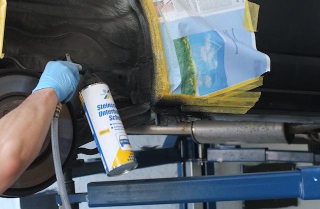 T4 Korossionsschutz Steinschlagschutz auf Bitumenbasis