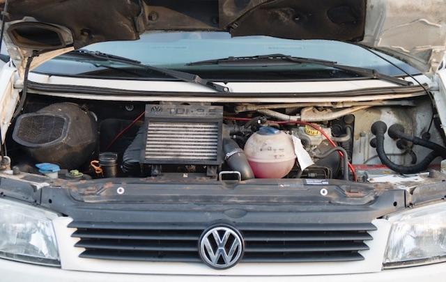 T4 Motorraum schlechter Zustand Rost