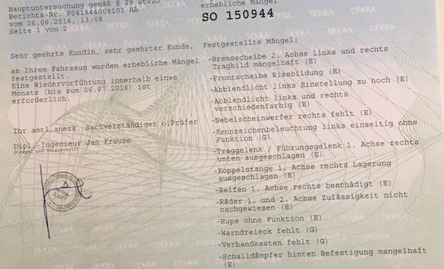 T4 reimport deutsche Fahrzeugpapiere erlangen