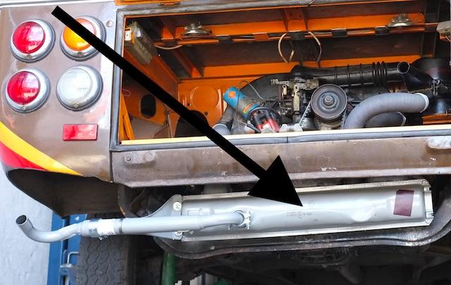 VW Bus T2 Endtopf neu kein Spass