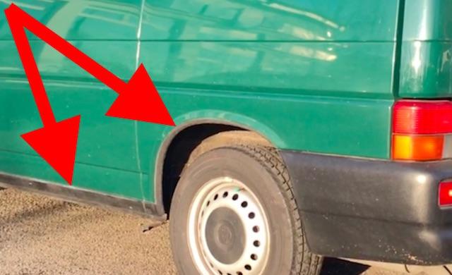 VW Bus T4 Korrosionsschutzarbeiten nach einem Jahr