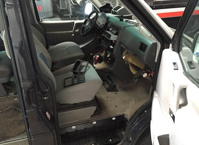 VW Bus T4 Sicherungsverwahrung Diebstahl