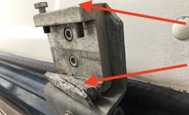 Aufnahme Markise T3 Aluminium wegkorrodiert