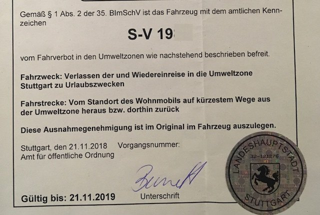 Dieselfahrverbot Stuttgart Ausnahmegenehmigung Umweltzone Berater BusChecker