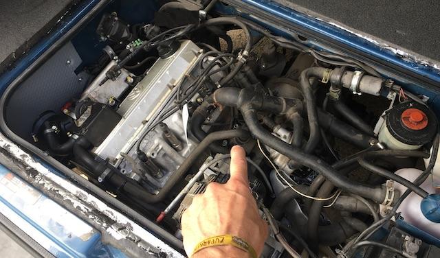 Golf GTI Motor AGG im VW Bus T3