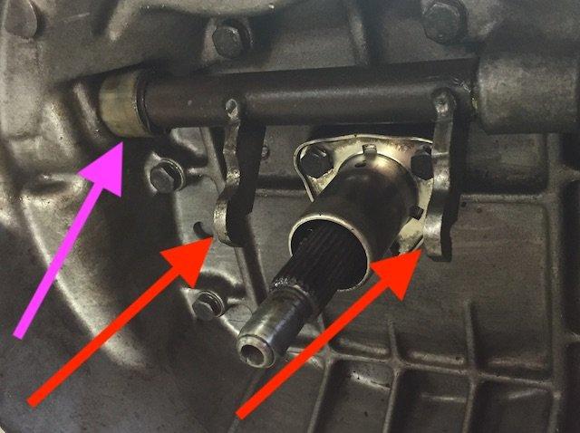 T3 Getriebe Ausrueckgabel Verschleiss pruefen