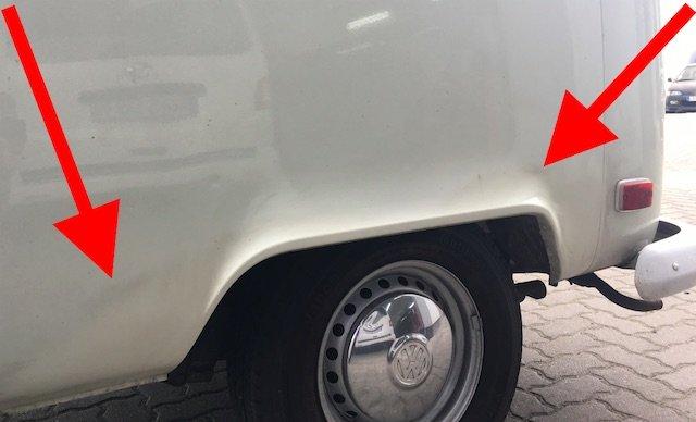 VW Bus T2 beilackieren