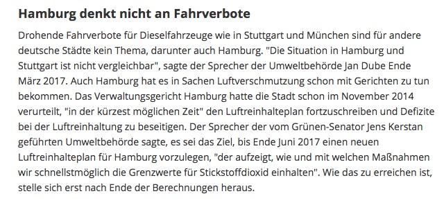 Hamburg Dieselfahrverbot Quelle Auto Bild 04 2017