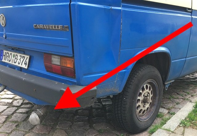 VW Bus T3 Dieselpartikelfilter nachruesten