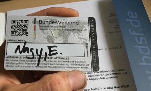 Ausweis Gutachter Enrico Nagy spezialisiert VW Busse