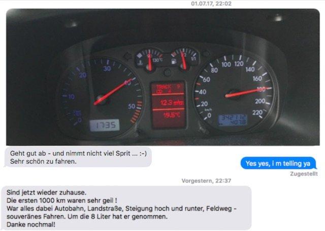 Erfahrungen VW Bus Checker feed VW Bus Interessent