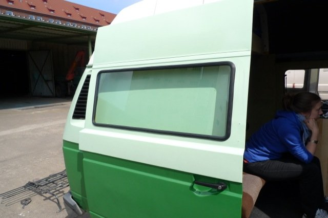 Fenster Schiebetuer VW Bus T3 Euro 300.- incl Glas und Einbau VW Bus Checker
