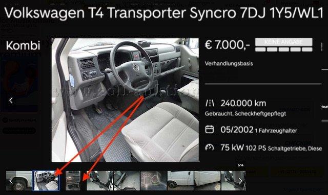 Inserate basteln von verschiedenen Fahrzeugen VW Bus Handel